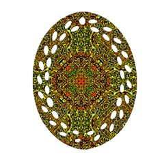 Oriental Pattern 01b Oval Filigree Ornament (two Sides) by MoreColorsinLife