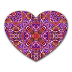 Oriental Pattern 01c Heart Mousepads by MoreColorsinLife