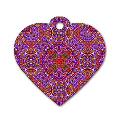 Oriental Pattern 01c Dog Tag Heart (one Side) by MoreColorsinLife