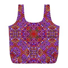 Oriental Pattern 01c Full Print Recycle Bags (l)  by MoreColorsinLife