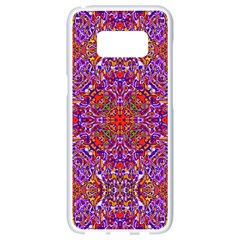 Oriental Pattern 01c Samsung Galaxy S8 White Seamless Case by MoreColorsinLife