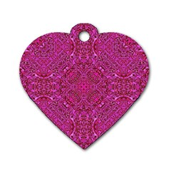 Oriental Pattern 02c Dog Tag Heart (one Side) by MoreColorsinLife