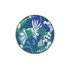 Tropics Leaf Bluegreen Hat Clip Ball Marker (4 Pack) by Mariart