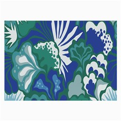 Tropics Leaf Bluegreen Large Glasses Cloth by Mariart