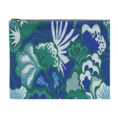 Tropics Leaf Bluegreen Cosmetic Bag (xl) by Mariart