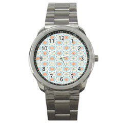 Star Sign Plaid Sport Metal Watch by Mariart
