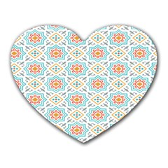 Star Sign Plaid Heart Mousepads by Mariart
