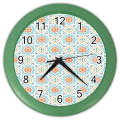 Star Sign Plaid Color Wall Clocks by Mariart
