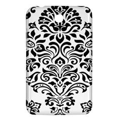 Vintage Damask Black Flower Samsung Galaxy Tab 3 (7 ) P3200 Hardshell Case  by Mariart