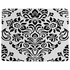 Vintage Damask Black Flower Jigsaw Puzzle Photo Stand (rectangular) by Mariart