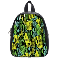 Sign Don t Panic Digital Security Helpline Access School Bags (small)  by Mariart