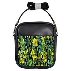 Sign Don t Panic Digital Security Helpline Access Girls Sling Bags by Mariart