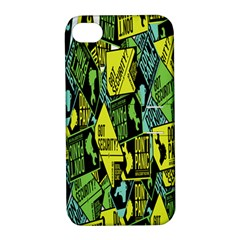Sign Don t Panic Digital Security Helpline Access Apple Iphone 4/4s Hardshell Case With Stand by Mariart