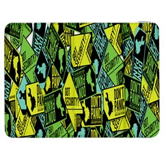 Sign Don t Panic Digital Security Helpline Access Samsung Galaxy Tab 7  P1000 Flip Case by Mariart