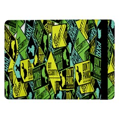 Sign Don t Panic Digital Security Helpline Access Samsung Galaxy Tab Pro 12 2  Flip Case by Mariart