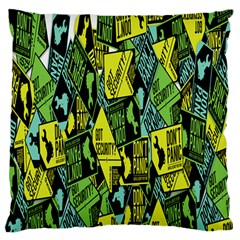Sign Don t Panic Digital Security Helpline Access Large Flano Cushion Case (two Sides) by Mariart