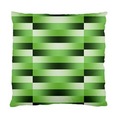 View Original Pinstripes Green Shapes Shades Standard Cushion Case (one Side) by Mariart