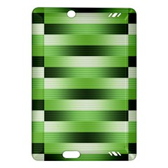 View Original Pinstripes Green Shapes Shades Amazon Kindle Fire Hd (2013) Hardshell Case by Mariart