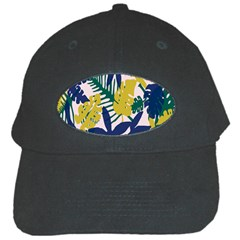 Tropics Leaf Yellow Green Blue Black Cap by Mariart