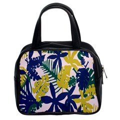 Tropics Leaf Yellow Green Blue Classic Handbags (2 Sides) by Mariart