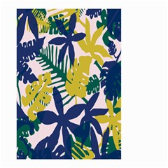 Tropics Leaf Yellow Green Blue Small Garden Flag (two Sides) by Mariart