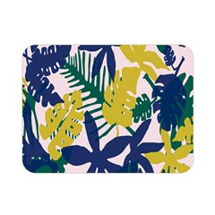 Tropics Leaf Yellow Green Blue Double Sided Flano Blanket (mini)  by Mariart