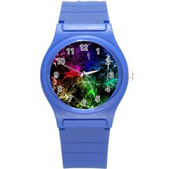 Color Fun 03b Round Plastic Sport Watch (s) by MoreColorsinLife