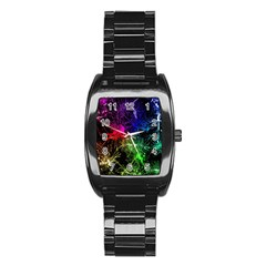 Color Fun 03b Stainless Steel Barrel Watch by MoreColorsinLife