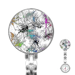 Color Fun 03f Stainless Steel Nurses Watch by MoreColorsinLife