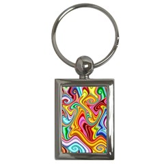 Rainbow Gnarls Key Chains (rectangle)  by WolfepawFractals