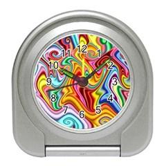 Rainbow Gnarls Travel Alarm Clocks by WolfepawFractals