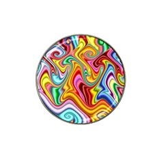 Rainbow Gnarls Hat Clip Ball Marker by WolfepawFractals