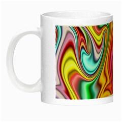 Rainbow Gnarls Night Luminous Mugs by WolfepawFractals