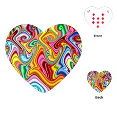 Rainbow Gnarls Playing Cards (heart)  by WolfepawFractals