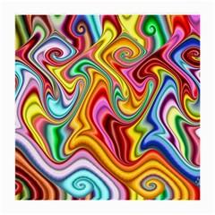 Rainbow Gnarls Medium Glasses Cloth (2 Side) by WolfepawFractals
