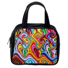 Rainbow Gnarls Classic Handbags (one Side) by WolfepawFractals