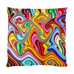 Rainbow Gnarls Standard Cushion Case (one Side) by WolfepawFractals