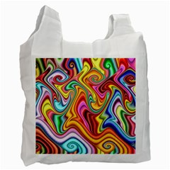 Rainbow Gnarls Recycle Bag (two Side)  by WolfepawFractals
