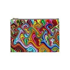 Rainbow Gnarls Cosmetic Bag (medium)  by WolfepawFractals