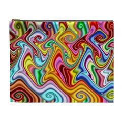 Rainbow Gnarls Cosmetic Bag (xl) by WolfepawFractals