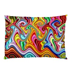Rainbow Gnarls Pillow Case (two Sides) by WolfepawFractals