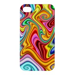 Rainbow Gnarls Apple Iphone 4/4s Premium Hardshell Case by WolfepawFractals