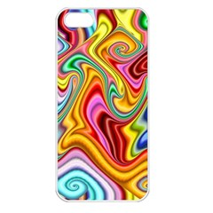 Rainbow Gnarls Apple Iphone 5 Seamless Case (white) by WolfepawFractals