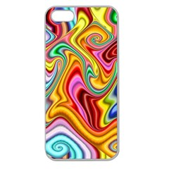 Rainbow Gnarls Apple Seamless Iphone 5 Case (clear) by WolfepawFractals