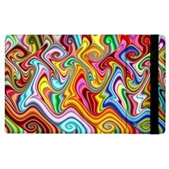 Rainbow Gnarls Apple Ipad 3/4 Flip Case by WolfepawFractals