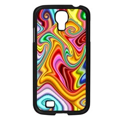 Rainbow Gnarls Samsung Galaxy S4 I9500/ I9505 Case (black) by WolfepawFractals