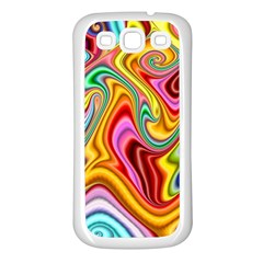 Rainbow Gnarls Samsung Galaxy S3 Back Case (white) by WolfepawFractals