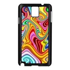 Rainbow Gnarls Samsung Galaxy Note 3 N9005 Case (black) by WolfepawFractals