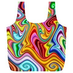 Rainbow Gnarls Full Print Recycle Bags (l)  by WolfepawFractals