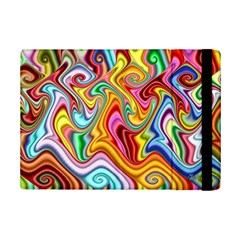 Rainbow Gnarls Ipad Mini 2 Flip Cases by WolfepawFractals